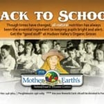 Back-To-School ad design for food store