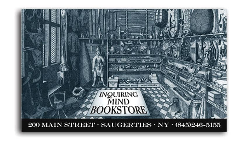 Independent bookstore business card design