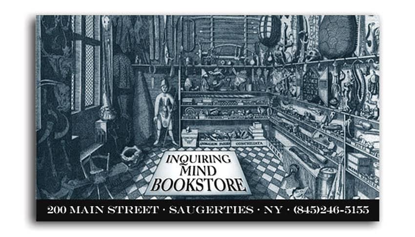 Independent bookstore business card design