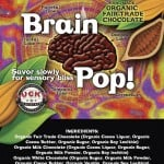Brain Pop! chocolate label design