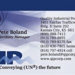 Conveyor belting fabricator business card design