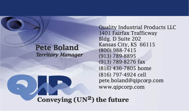 Conveyor belting fabricator business card design