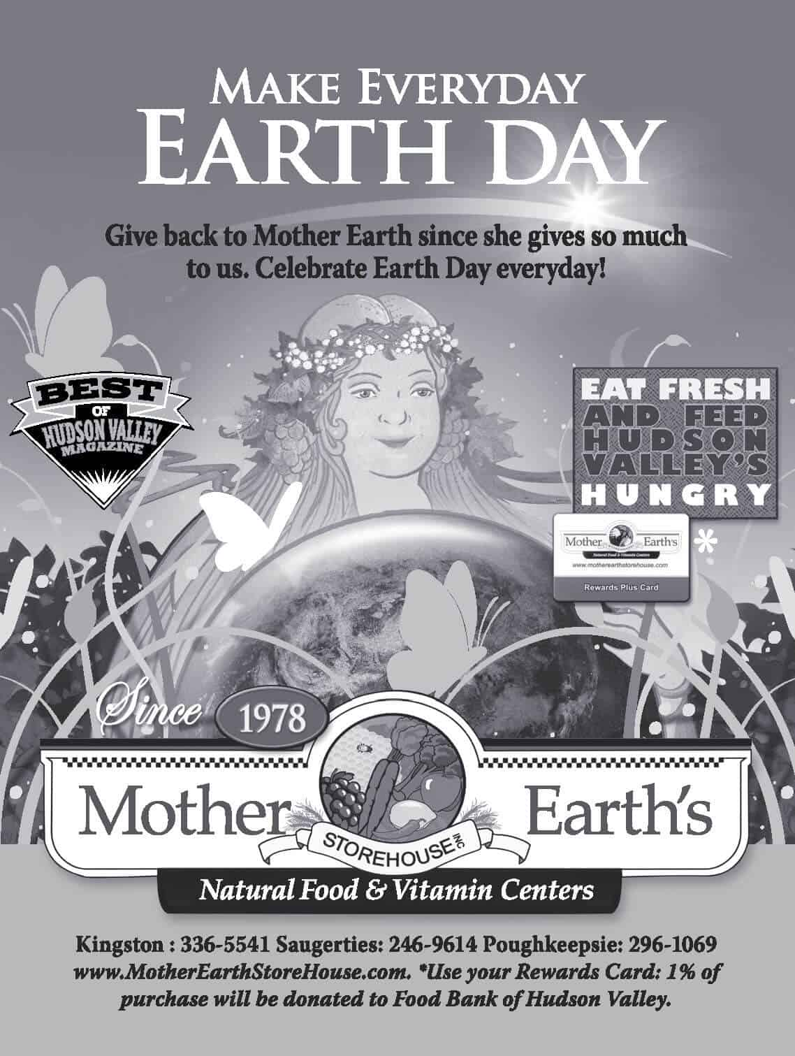 Black and White Earth Day Ad