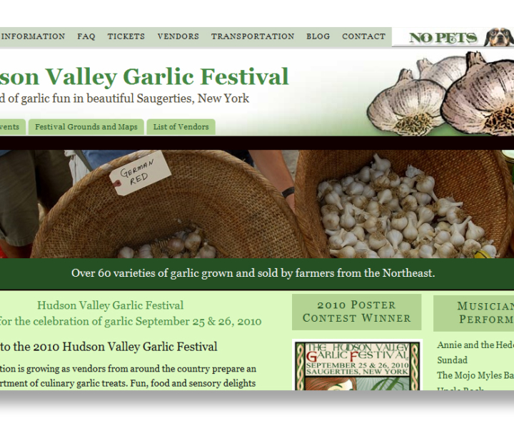 Hudson Valley Garlic Festival gets new website redesign