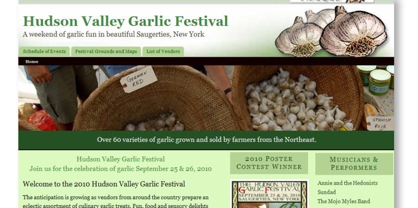 Hudson Valley Garlic Festival gets new website redesign