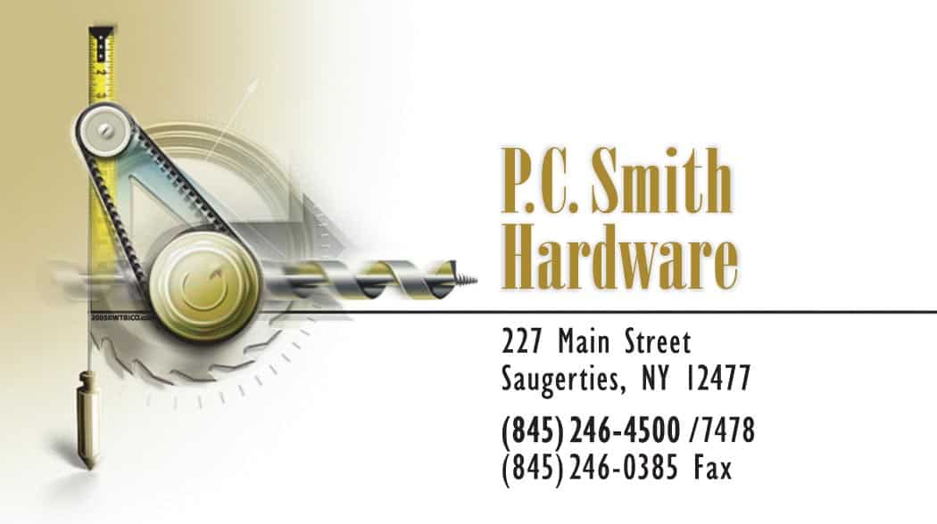 Local hardware store business card design