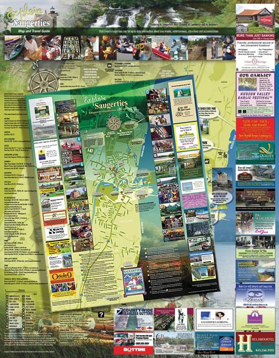 Tourism Map Design for New York Village