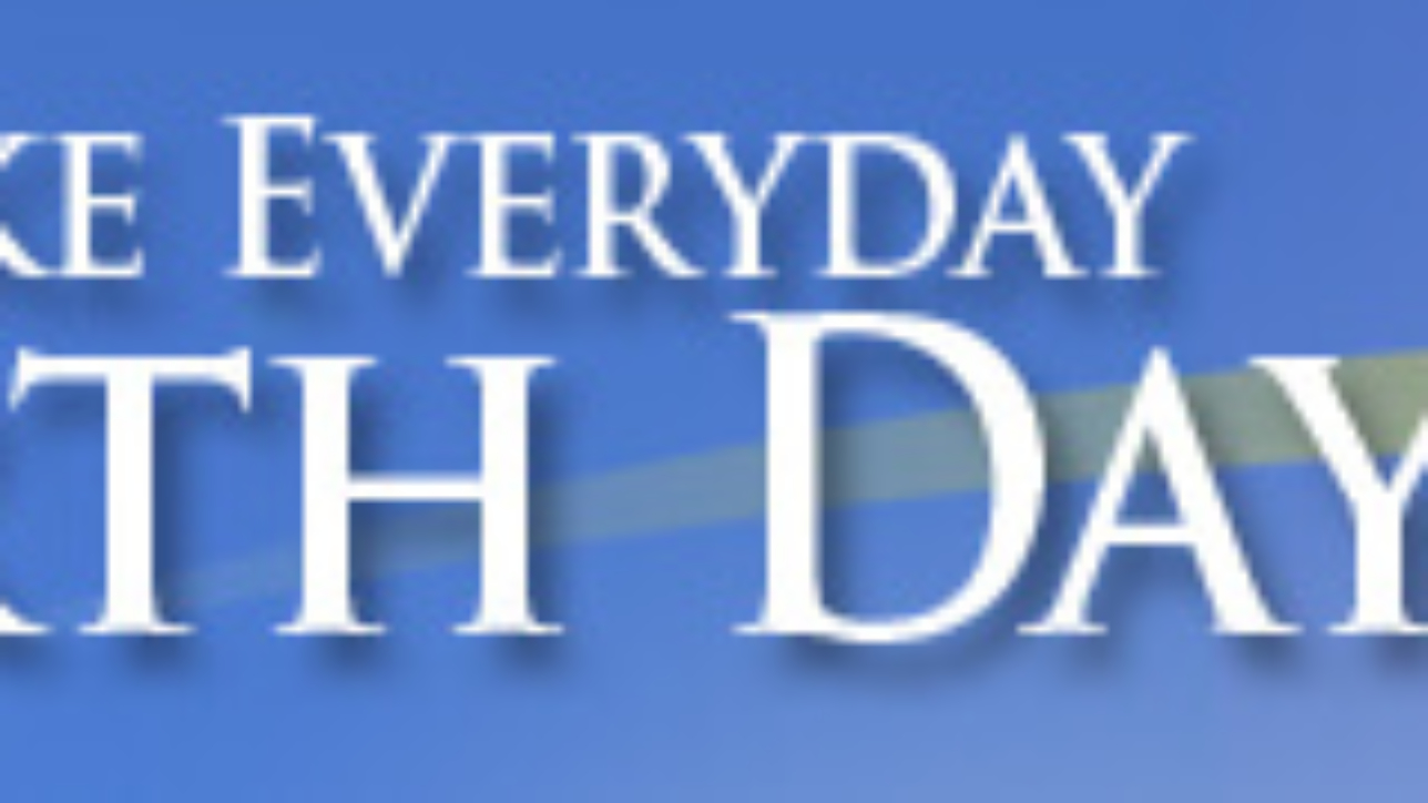 Web banner design promoting Earth Day
