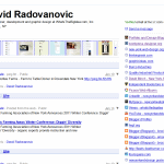 Google profile of New York Web designer David Radovanovic