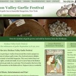 AFTER Web site redesign of Hudson Valley Garlic Festival