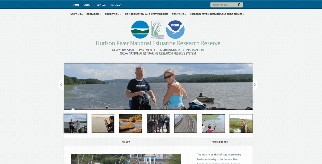 Responsive Website Design - WordPress design for NYDEC Hudson River National Estuarine Research Reserve