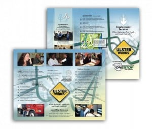 Brochure redesign for Ulster County Workforce System - Government Branding