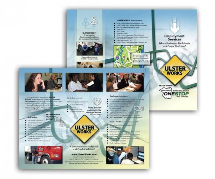 Brochure redesign for Ulster County Workforce System