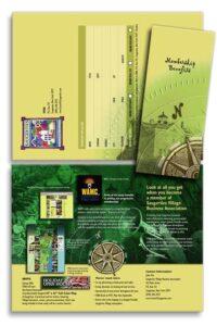 Brochure for Saugerties' Chamber Of Commerce membership recruitment.