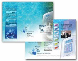 Water Filtration Tri-Fold Brochure Design