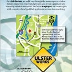 Print ad design for Ulster Works employment services re-branding
