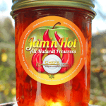Label Design for Jam'n Hot All-Natural Perserves