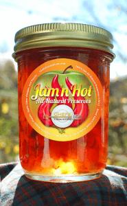 Label Design for Jam'n Hot All-Natural Preserves