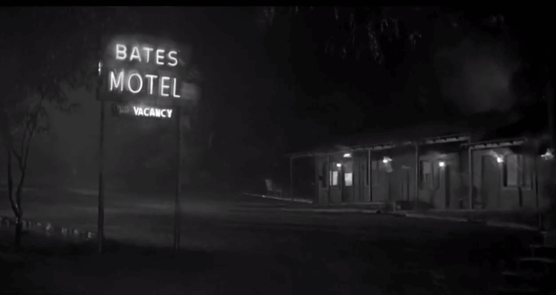 The infamous Bates Motel Neon Sign Design