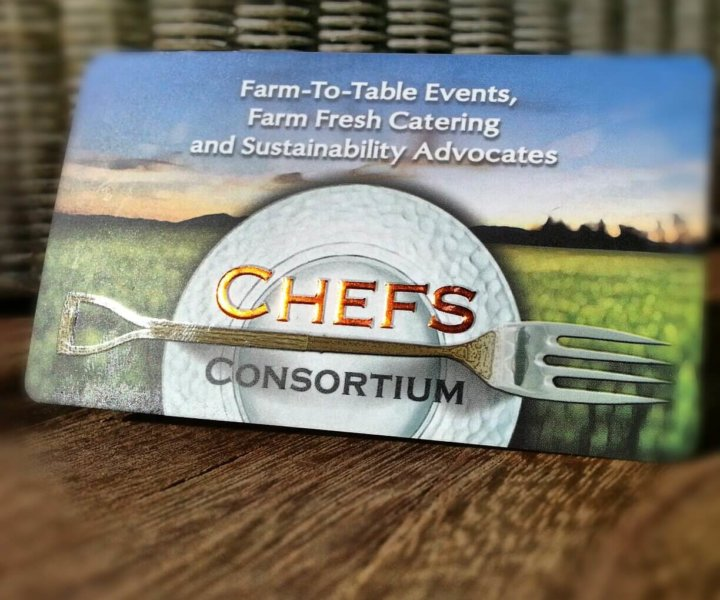 Chefs Consortium Business Card Design