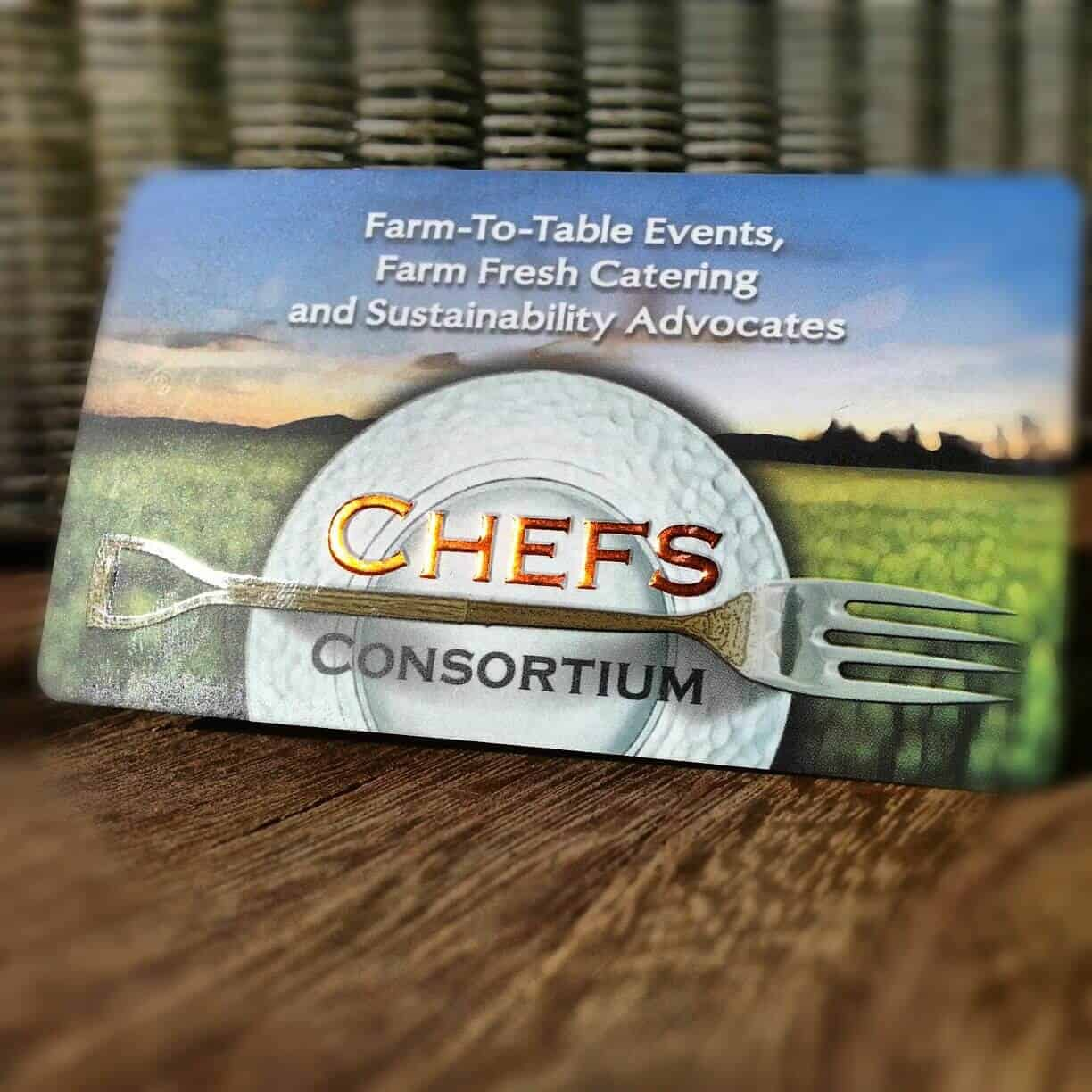 Branding For Nonprofit Organizations - Chefs Consortium Business Card Design