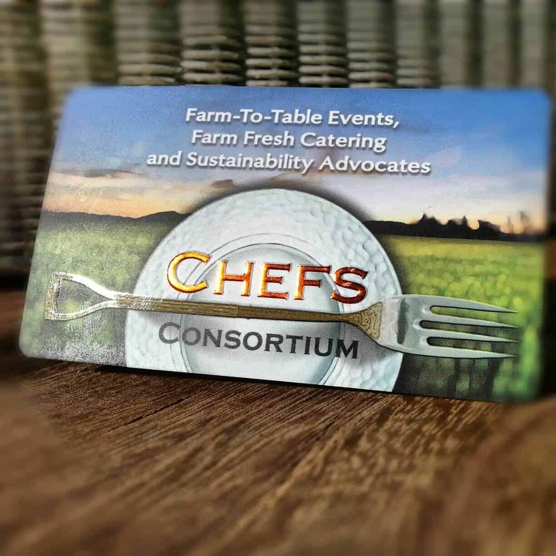 Chefs Consortium Business Card Design
