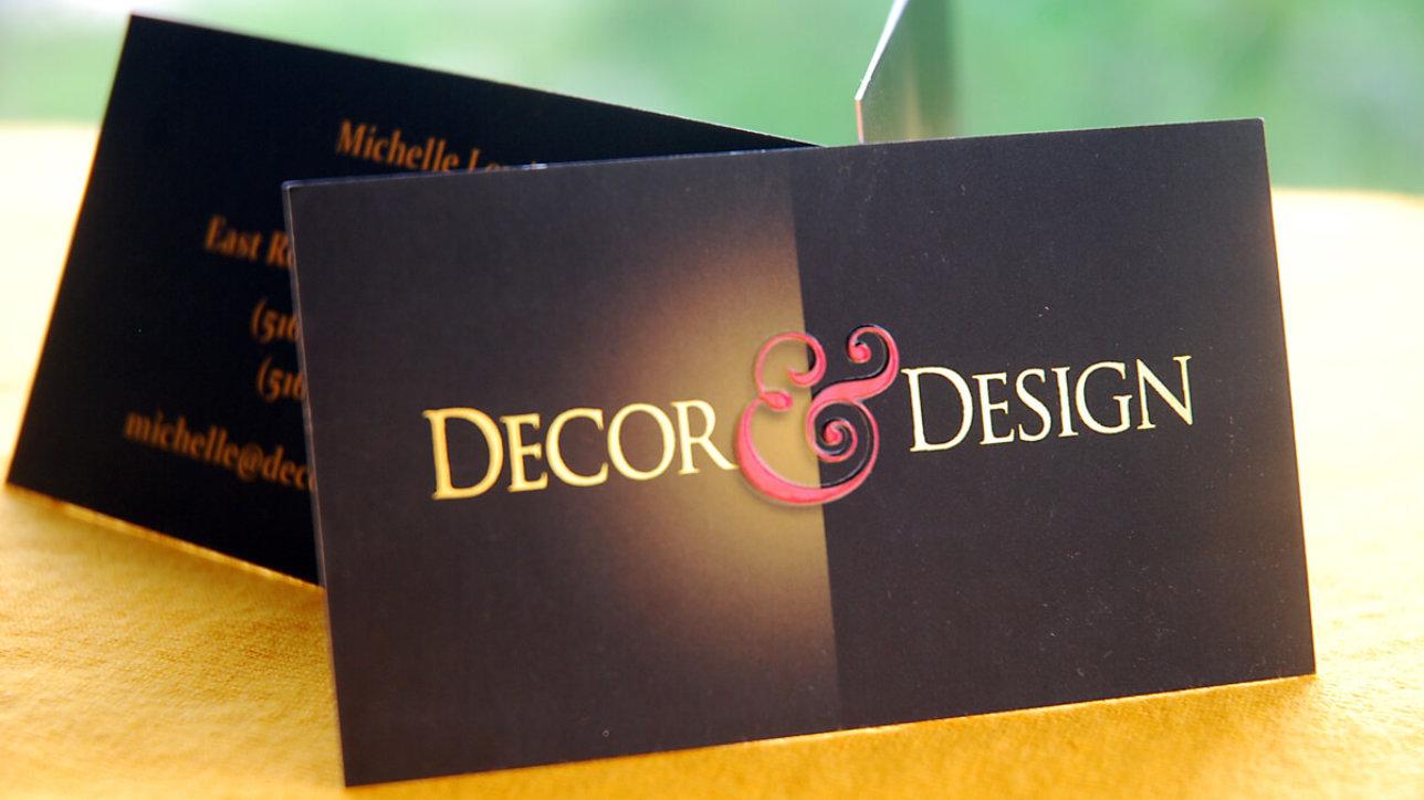 Long Island interior designer business card design
