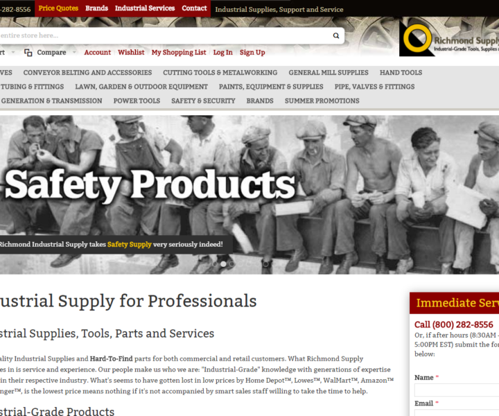 Industrial Supply E-Commerce built on Magento